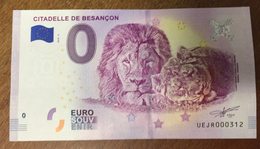 25 BESANÇON CITADELLE LIONS BILLET 0 EURO SOUVENIR 2018 BANKNOTE BANK NOTE 0 EURO SCHEIN PAPER MONEY - EURO