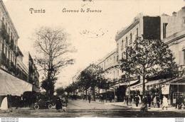 TUNISIE  TUNIS  Avenue De France ( Cachet 4è Chasseures D'Afrique ) - Marcophilie (Lettres)