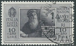 1932 REGNO POSTA AEREA USATO DANTE 10 LIRE - RB35-4 - 1900-44 Vittorio Emanuele III