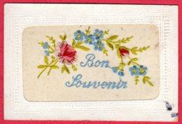Carte Brodée - Bon Souvenir - Borduurwerk