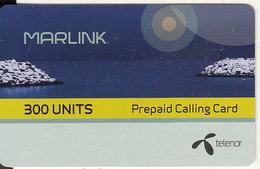 NORWAY - Marlink/Telenor Satellite Prepaid Card 300 Units, Exp.date 31/12/11, Used - Norvegia