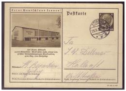 Dt- Reich (008481) Ganzsache P236 Lernt Deutschland Kennen, Hof, Adolf Hitler Halle, Gelaufen Zürbig 25.5.1937 - Deutschland
