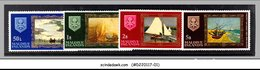 MALDIVES ISLANDS - 1968 SEASCAPE PAINTINGS / SHIPS / BOATS - 4V-  MINT NH - Maldives (1965-...)