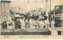PORTUGAL-POSTCARDS- TEMA- C. DE FERRO(ESTAÇÕES)--FARO-V. RAL DE SANTO ANTONIO.FESTAS DA INAUGURAÇÃO CAMINHO DE FERRO - Faro