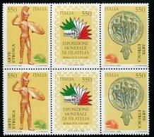 """Italia (1984)  """"Esposizione Internazionale Di Filatelia, A Roma - Arte Etrusca """" ** - 1981-90: Mint/hinged"""