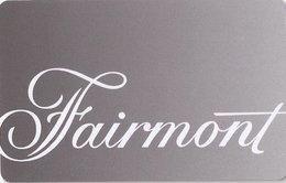 CANADA - KEY HOTEL  Fairmont - Hotelkarten