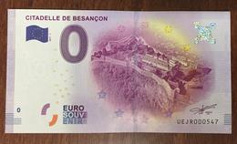 25 BESANÇON CITADELLE BILLET 0 EURO SOUVENIR 2017 BANKNOTE BANK NOTE 0 EURO SCHEIN PAPER MONEY - EURO