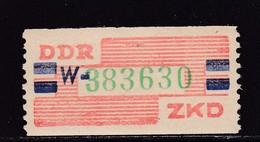 ZKD Wertstreifen Dienstmarken-B Michel Nr. 27 W ** Postfrisch - DDR