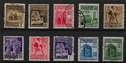 Serie 113 (Sassone) - Monumenti Distrutti 2 Emissione I Scelta - 4. 1944-45 Repubblica Sociale