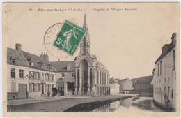 62  AIRE SUR LA LYS  - Chapelle Hospice Baudelle - CPA  9x14 N/B BE - Aire Sur La Lys