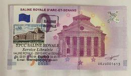 25 ARC ET SENANS SALINE ROYALE BILLET 0 EURO SOUVENIR 2018 + 2 TAMPONS BANKNOTE BANK NOTE 0 EURO SCHEIN PAPER MONEY - Unclassified