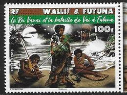 WALLIS ET FUTUNA, 2019, MNH, KING VANAI AND THE BATTLE, WARRIORS, 1v - Disfraces