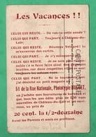 72 Sarthe  Ruille Sur Le Loir Au Dos  Publicité  De La Phototypie Huguet De Chateau Du Loir 51 Rue Nationale ( Editeur ) - Chateau Du Loir