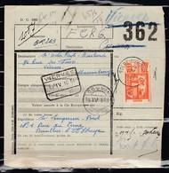 Vrachtbrief Met Stempel Solre-Sur-Sambre - 1942-1951