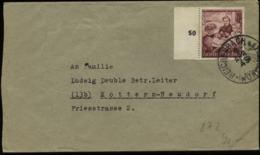 3. Reich - DR 15 Pfg Mutter Und Kind Auf Briefumschlag , Endzeitbeleg: Gebraucht Reichenbach - Kottern 3.4.1945, Bedar - Germany
