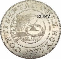 "United States * 1 ""Continental"" Dollar 1776 * ⌀ 38 Mm * REPRODUCTION - Émissions Pré-Fédérales"