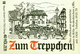 1 Altes Gasthausetikett, Gasthaus Zum Treppchen, Köln-Rodenkirchen #231 - Boites D'allumettes - Etiquettes
