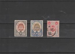Ensemble 3 Timbres  Aalborg ,Kiobenhavns - Local Post Stamps