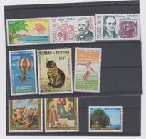 WALLIS ET FUTUNA Lot 9 T 1983 Neufs Xx  N° YT PA 123 à 131 - 1983 - Airmail