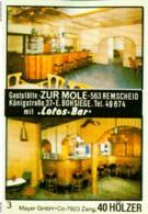 1 Altes Gasthausetikett, Gaststätte Zur Mole, E. Bohsiege 5630 Remscheid, Königstraße 37 #233 - Boites D'allumettes - Etiquettes