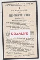 DOODSPRENTJE BUYTAERT MARIA ECHTGENOTE SACK VRASENE NIEUWKERKEN 1857 - 1934  Bewerkt Tegen Kopieren - Images Religieuses