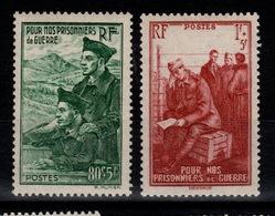 YV 474 / 475 N** Prisonniers Cote 4,15 Euros - France