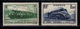 YV 339 & 340 N** Chemins De Fer Train Cote 20 Euros - Francia