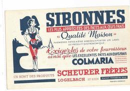 """68 - LOGELBACH BUVARD PATES """"SIBONNES"""" & """"COLMARIA"""", ETS SCHEURER FRERES - Alimentaire"""