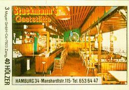 1 Altes Gasthausetikett, Stuckmann's Gaststätte, Hamburg 34, Manshardtstr. 115 #238 - Matchbox Labels