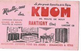 60 - RANTIGNY  BUVARD KUOM MEUBLES - Lebensmittel
