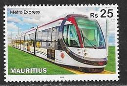 MAURITIUS, 2019, MNH, TRAINS, METRO EXPRESS, 1v - Trains