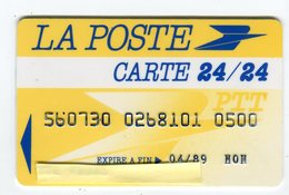 Telecarte°_ Bancaire Jetable-La Poste-24°24-8101- R/V - Francia