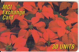 ITALY - Flowers, MCI Prepaid Card 30 Units, Used - Italië
