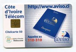 Telecarte °_ Côte Ivoire-CIT.Aviso.ci-gem-Citel 50- R/V 9646 - Côte D'Ivoire