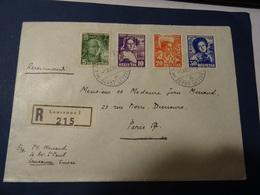 SUISSE 1936 SERIE PREMIER JOUR PRO JUVENTUTE SUR LETTRE  1/12/36 En Recommandée Pour LAUSANNE - Pro Juventute