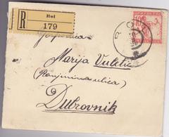 CROATIA  RECO - BRIEF   --  BOL , INSEL BRAC  --  1920   ----   WITH VERIGARI, CHAINBREAKERS STAMP  --  BRIEF MIT INHALT - Kroatien