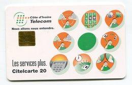 Telecarte °_ Côte Ivoire-Les Services Plus-gem-Citel 20- R/V 7576 ° LUXE - Côte D'Ivoire