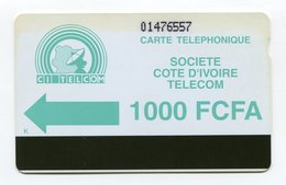 Telecarte °_ Côte Ivoire-magnét.SCIT-verte-1000 FCFA- R/V 6557 - Côte D'Ivoire