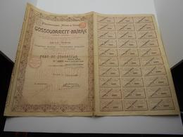 """Part Fondateur""""Charbonnages Mines Et Usines De Gossoudarieff-Baïrak""""Bruxelles 1899 Russie Russia N°12671 - Russie"""