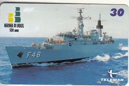 BRAZIL(Telemar) - Marinha Do Brasil 500 Anos 3/Fragata Bosisio, 01/01, Used - Brasilien