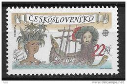 1992 MNH Cept Czechoslovakia - Europa-CEPT