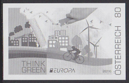 AUSTRIA (2016) Think Green. Black Print. - Prove & Ristampe