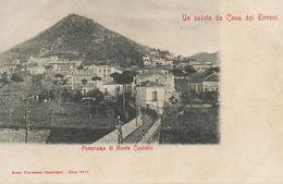 Saluto Da Cava Dei Tirreni  . Panorama Di Monte Castello.  Undivided Back.  Giustinlani - Cava De' Tirreni