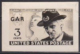U.S.A. (1949) Veterans. Photo Essay Of Final Design Commemorating Final Encampment Of The GAR. Scott No 985 - Sonstige
