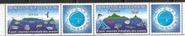 WALLIS ET FUTUNA, 2019, MNH, INTERNATIONAL OCEANS DAY, FISH, WHALES, SHARKS, TURTLES, BIRDS, 2V+TABS - Ballenas
