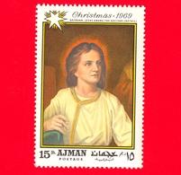 EMIRATI ARABI - AJMAN - 1969 - Natale - Dipinto Di Heinrich Hofmann - Gesù Nel Tempio Tra I Dottori - 15 - Ajman