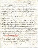 Manuscrit / Lettre 1791 / PARIS / M. GUGUET Pour B MATHS Au Puy 43 - Manuscritos