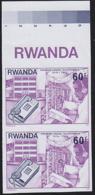 RWANDA (1976) Push-button Telephone. International Phone Operator. Imperforate Pair. Scott No 753. - Other