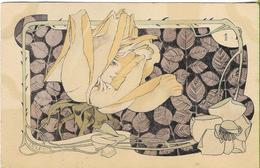 LELEE  Visage De Femme Dans Une Rose (N° 1 De La Série) - Illustrateurs & Photographes