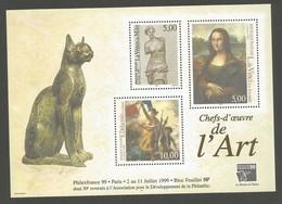 France Yvert BF23 Bloc Feuillet Philexfrance 1999 Chefs-d'oeuvre De L'Art - Mint/Hinged